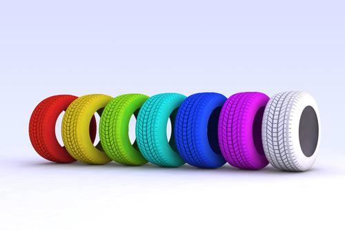 pneumatici colorati