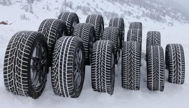 gomme invernali sulla neve
