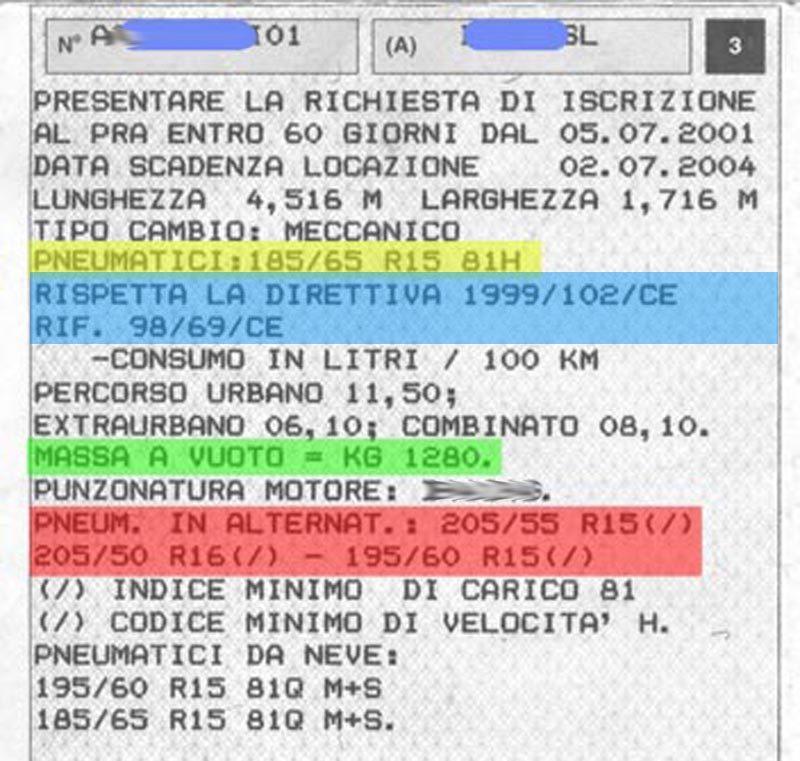 Guida Passo-Passo alla Lettura del Libretto per Scegliere gli Pneumatici Corretti per la Propria Auto